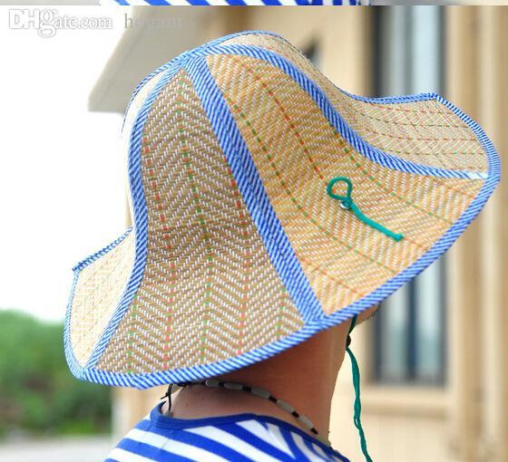 Chapeau de soleil été-parent-enfant des femmes de gros chapeau de pliage de paille