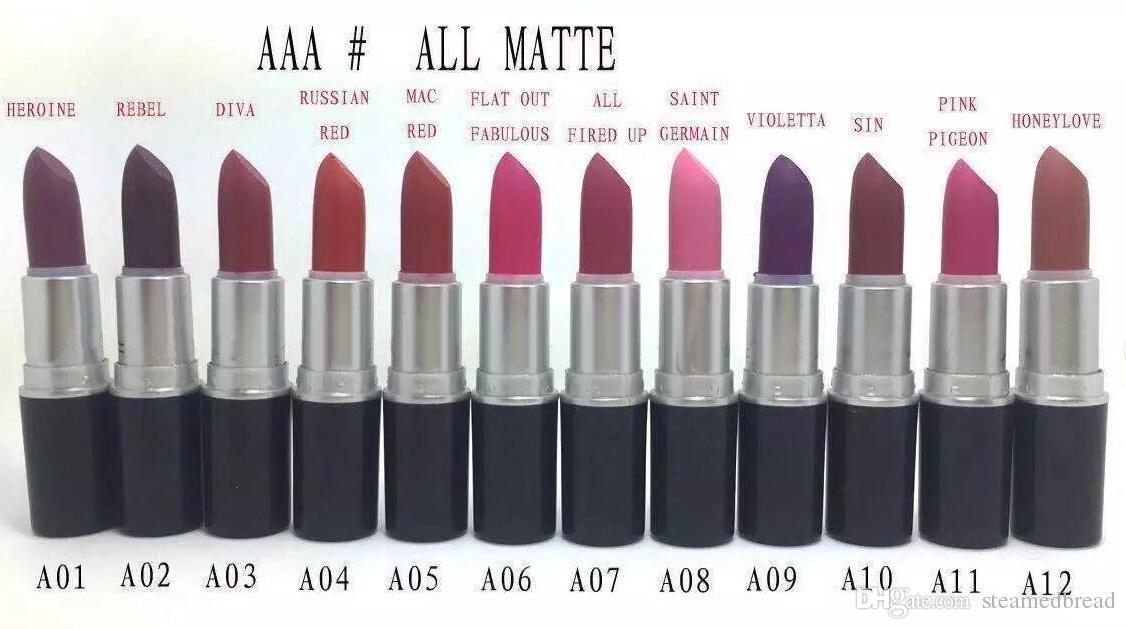 24 PCS FRETE GRÁTIS Menor Best-Seller boa venda NOVA Maquiagem 24 cores Matte batom tem nome Inglês e número presente