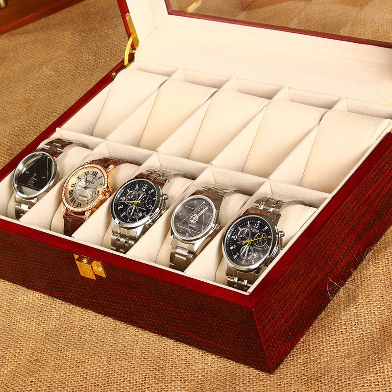 Solid wood watches boxs jewelry collection box collection boxs display storage box