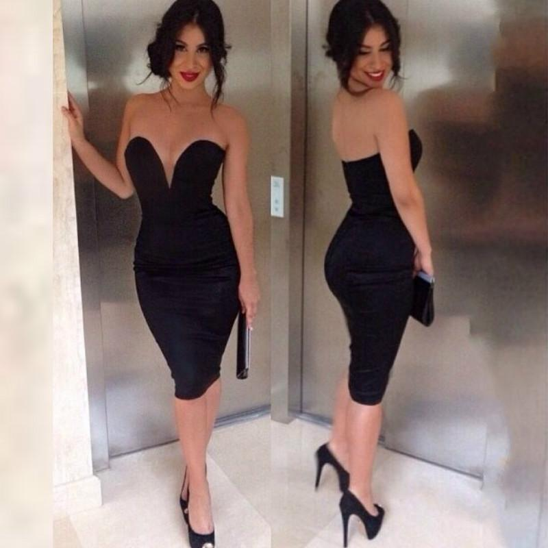 2016 New Fashion Bandage Dress Women Sexy Off The Shoulder Strapless Bodycon Dress Casual Dress Bustier Slim Pencil Strapless Dresses Party