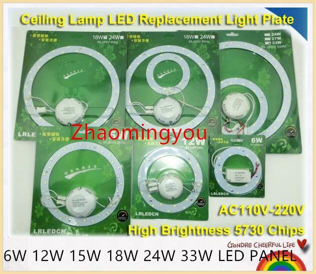 6W 12W 15W 18W 24W 33W LED PANNELLO dell'anello del cerchio di luce 220V SMD 5730 LED rotonda bordo del soffitto del consiglio lampada circolare per sala da pranzo