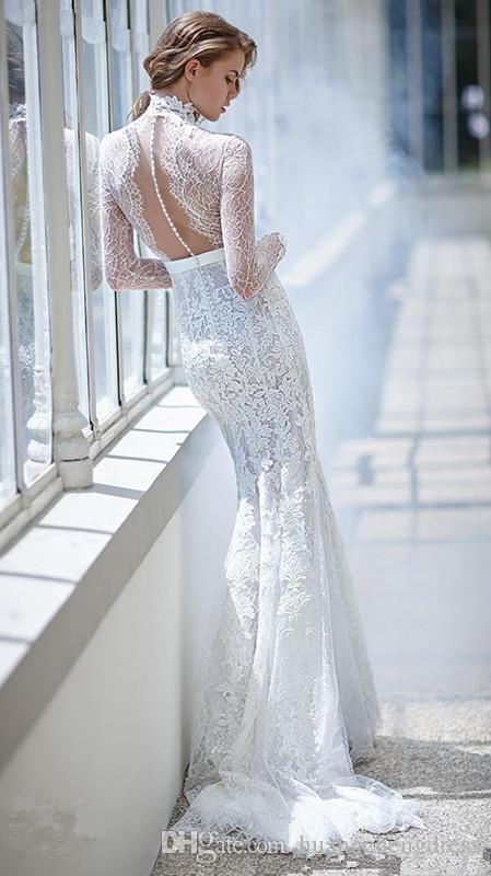 Großhandel 2017 Long Sleeves Brautkleider Inspiriert Von Victoria F ...