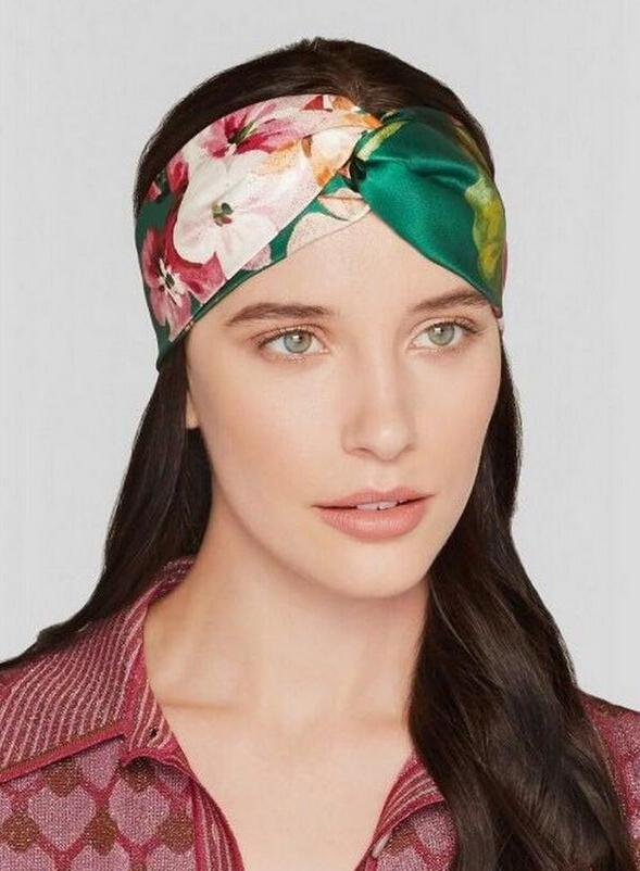Retro Women Elastic Turban Twisted Knotted Headband Silk flower hair band accessories holiday party Hair Accessories