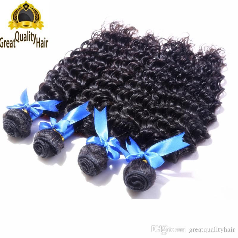 Clearance Sale!!!Wholesale Cheap 8A Peruvian Brazilian Indian Malaysian Hair Extension Deep Wave 8-30 inch Human Hair Weft With Eyelash Gift