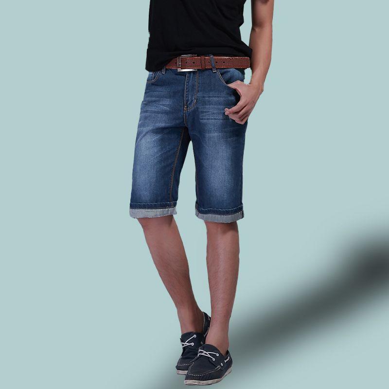 2017 Plus Size 42 Men Fashion Casual Mid Waist Jeans Men'S Summer ...