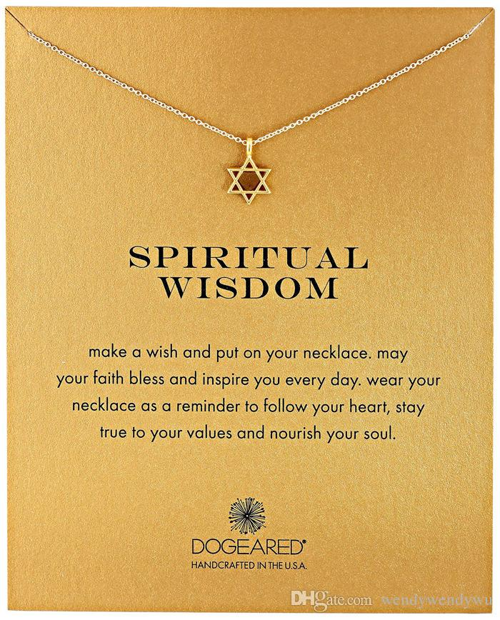 Dogeared Necklace with star pedant (spiritual wisdom), silver and gold color, no fade, free shipping and high quality.