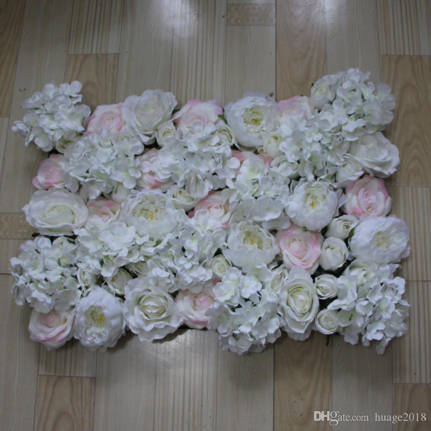 10pcs/lot Artificial silk Light color rose white peony flower wall wedding background lawn/pillar road lead market decoration