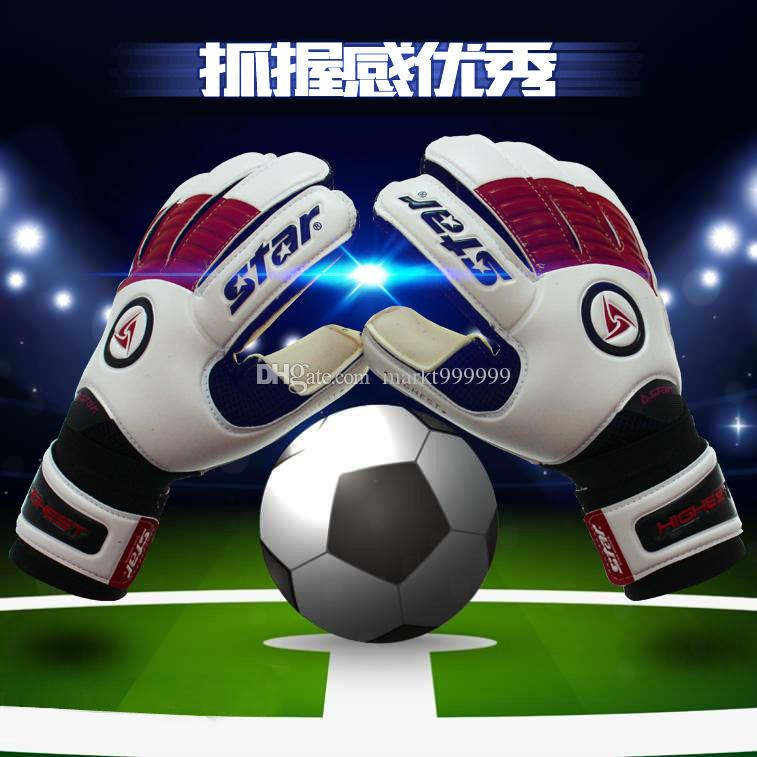 Child male Genuine Soccer Goalkeeper Breathable training student gloves with/without finger guard Slip resistant Professional Super Latex