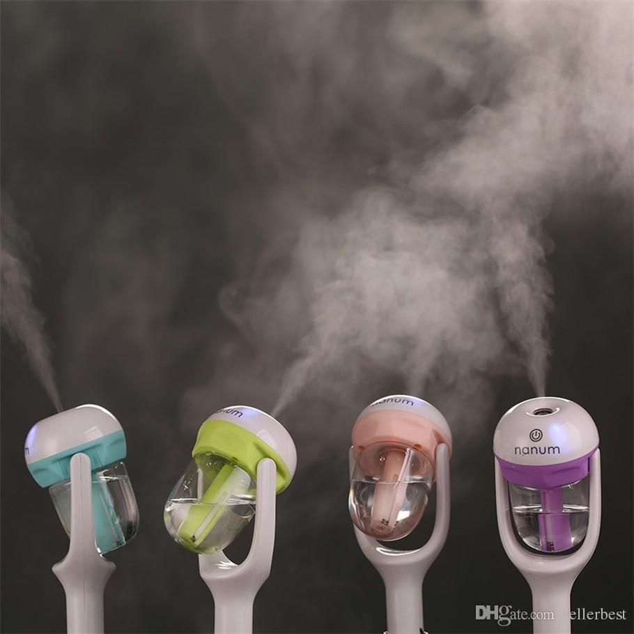 12 V Taşınabilir Oto Mini Araba Buharlı Nemlendirici Hava Temizleme Aroma Aromaterapi Uçucu Yağ Difüzör Mist Maker Mini Sisleyici