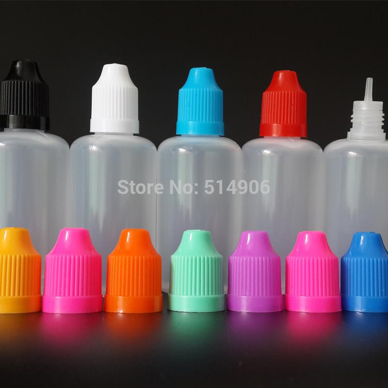 Wholesale- 1000pcs / lot, 50ML LDPE Augentropfflasche mit Tropfkappen Spitze kindersicher, leeren E Ölvorratsflasche
