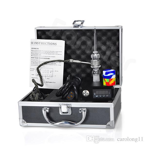 Kit complet d'ongle électrique à ongles pour les ongles à quartz E avec contrôleur de température Quartz à quartz de 14 W 18 quartz femelle