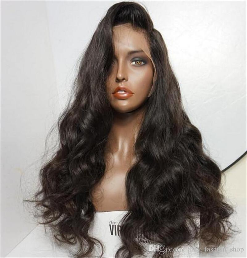Long Length Fashion Body Wave Lace Front Wigs with Bleached Knots Glueless Full Lace Human Hair Wigs
