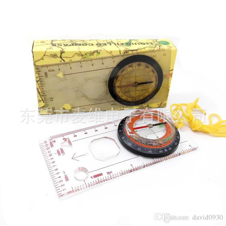En soldes! 1pc plaque de base règle carte échelle compas scouts camping kit de randonnée DC45-5C