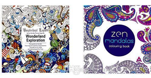 Coloring Book Zen Cheap 2016 Adult Books 4 Designs Secret Garden Lost Ocean