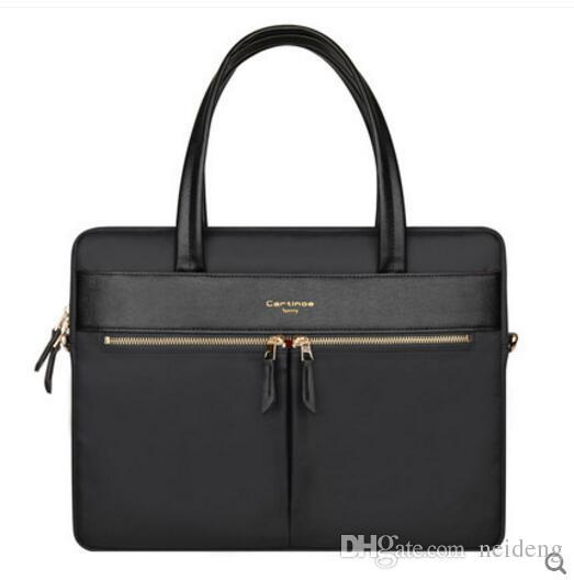 """Alta calidad nueva llegada diseñador de moda 15.4 """"para mujer bolsa de ordenador portátil cruz cuerpo hombro maletín de negocios maletín bolso de la computadora"""