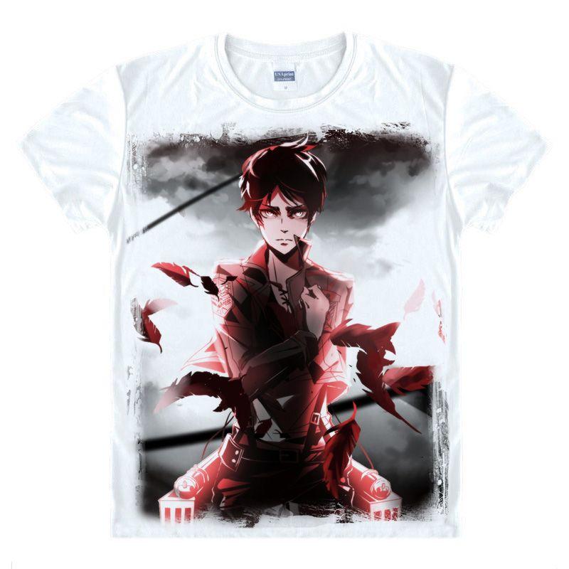 Anime-Shirt Angriff auf Titan T-Shirts Multi-Stil Short Scout Legion Ackerman Cosplay Motivs Shirts T-Style070-3-NO17