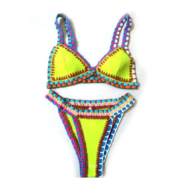 2019 New Pretybaby Sexy Neoprene Bikini Set Brazilian Style Handmade
