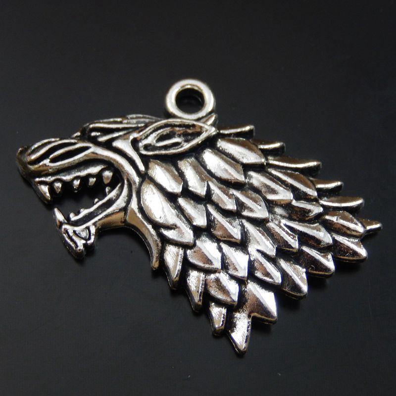 5 STÜCKE Antike Silberlegierung Wilde Tier Anhänger Charme Schmucksachen 35 * 26mm 39984 schmuck machen