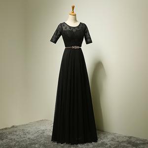 Boot-ausschnitt Spitze Chiffon Mutter Kleider 2016 Halbarm Mutter Braut Kleider Elegante Vestido De Festa Longo