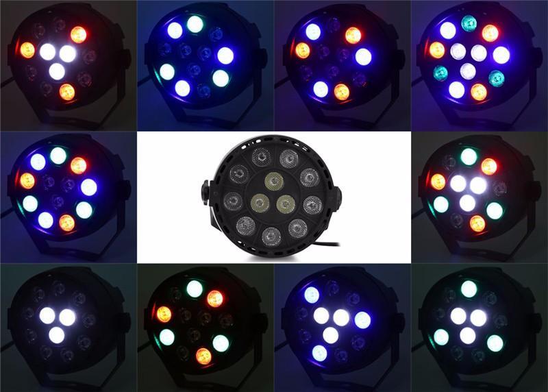 LED Par RGBW DMX512 Disco Lamp stage light7