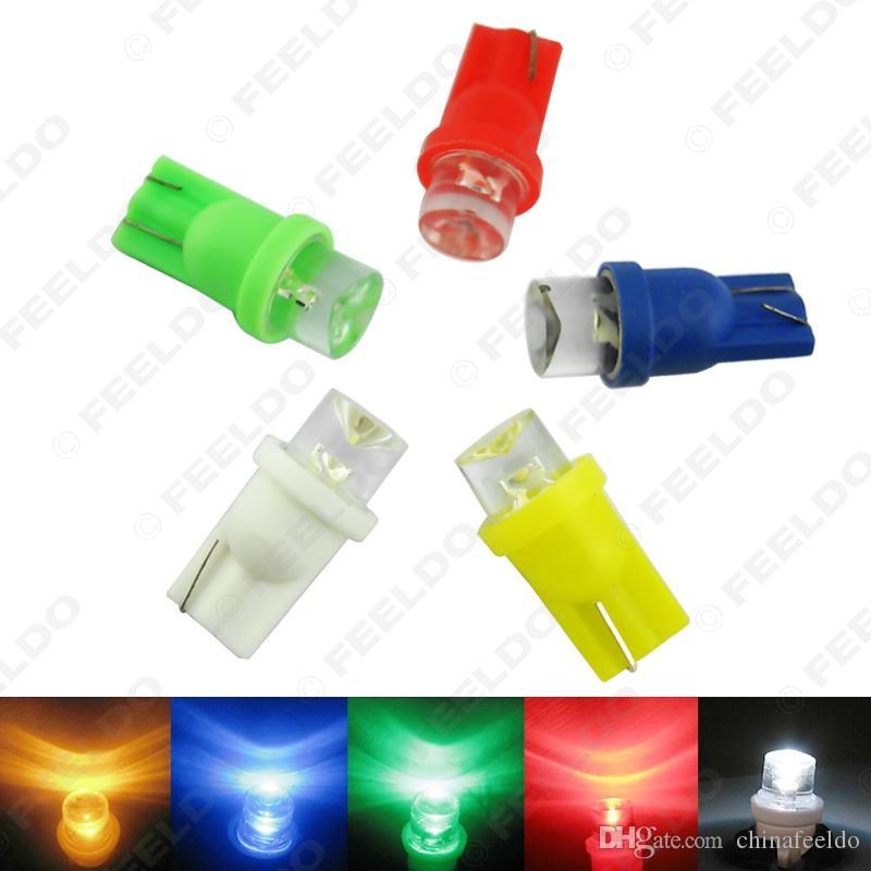 자동 차 도매 5 색 T10 194 168 1 - LED 오목 LED 웨지 자료 대시 보드 LED 전구 # 3167