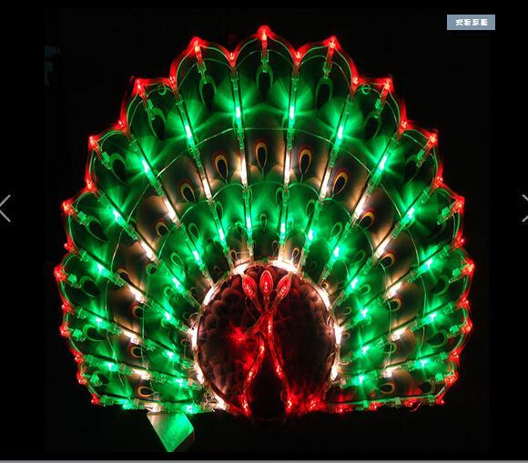 Lanterne mariage mariage chambre disposition fenêtre décoration décorative paon LED lumières de vacances