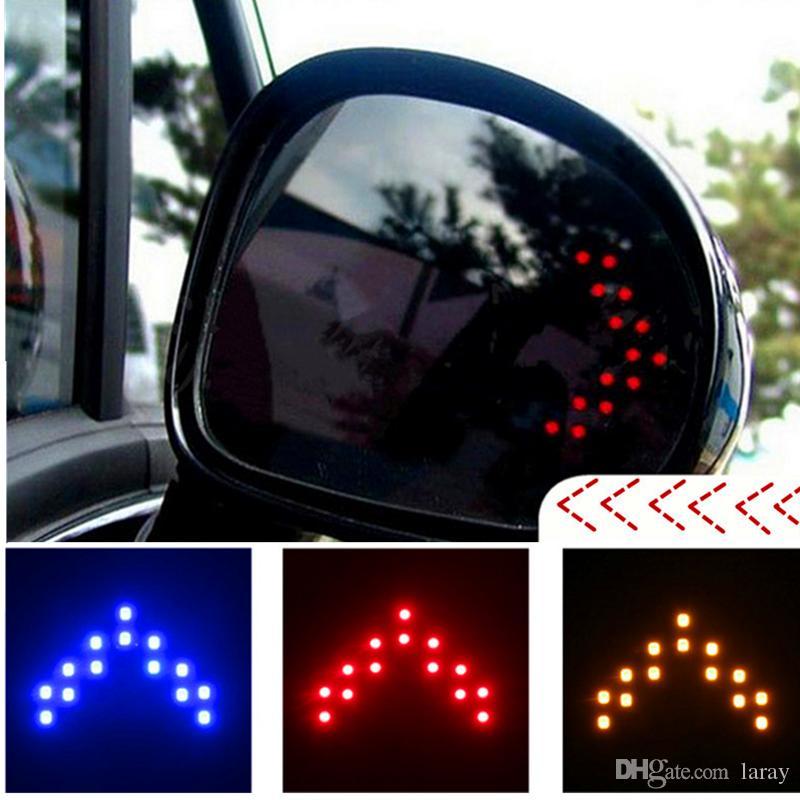 2pcs Car Arrow Panel 14 SMD LED Auto Side Mirror Rear View Indicator Turn Signal Light Lamp 12V LED Light LED Trailer Lights