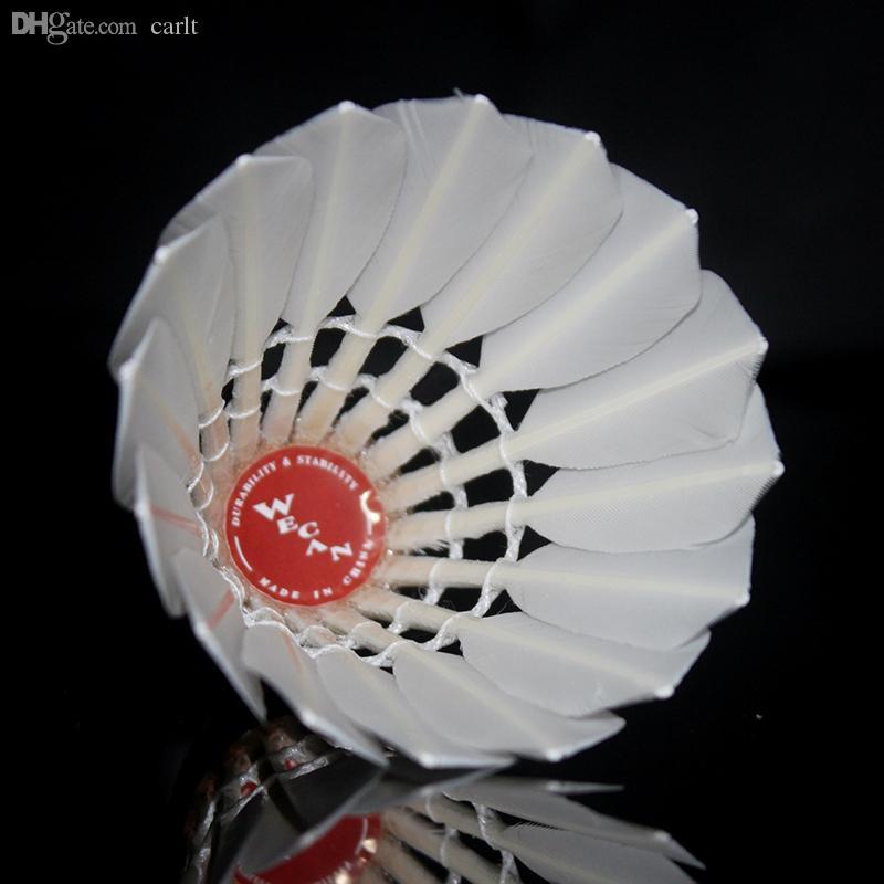 Toptan-Ücretsiz kargo Orijinal WECAN badminton raketle KıRMıZı Tüy Raketle turnuvası için En Iyi sınıf ördek tüyü raketle