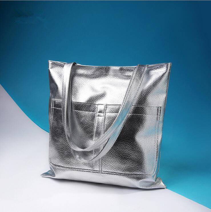 Nuove borse da donna di alta qualità PU Borse da donna Borse a tracolla Donna Grande capacità Nero oro moda casual Totes Borsa Shopping Bag