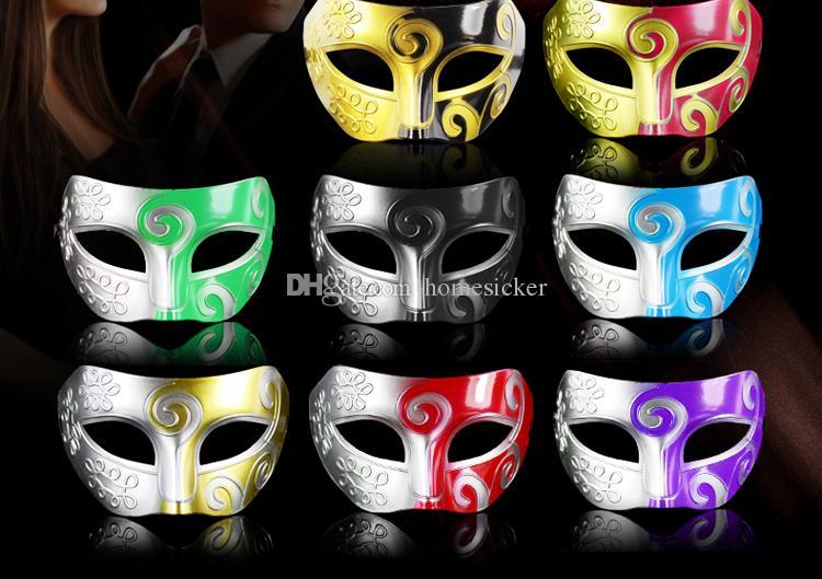 Multicolor Retro Gladiatore Romano Del Partito Di Halloween Del Viso Masquerade Mask Venetian Dance Party Mask Mezza Maschera Spedizione Gratuita