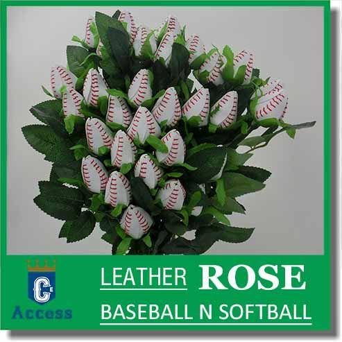 Roses de Baseball faites à partir de vrais Baseballs! Bouquet de roses de baseball