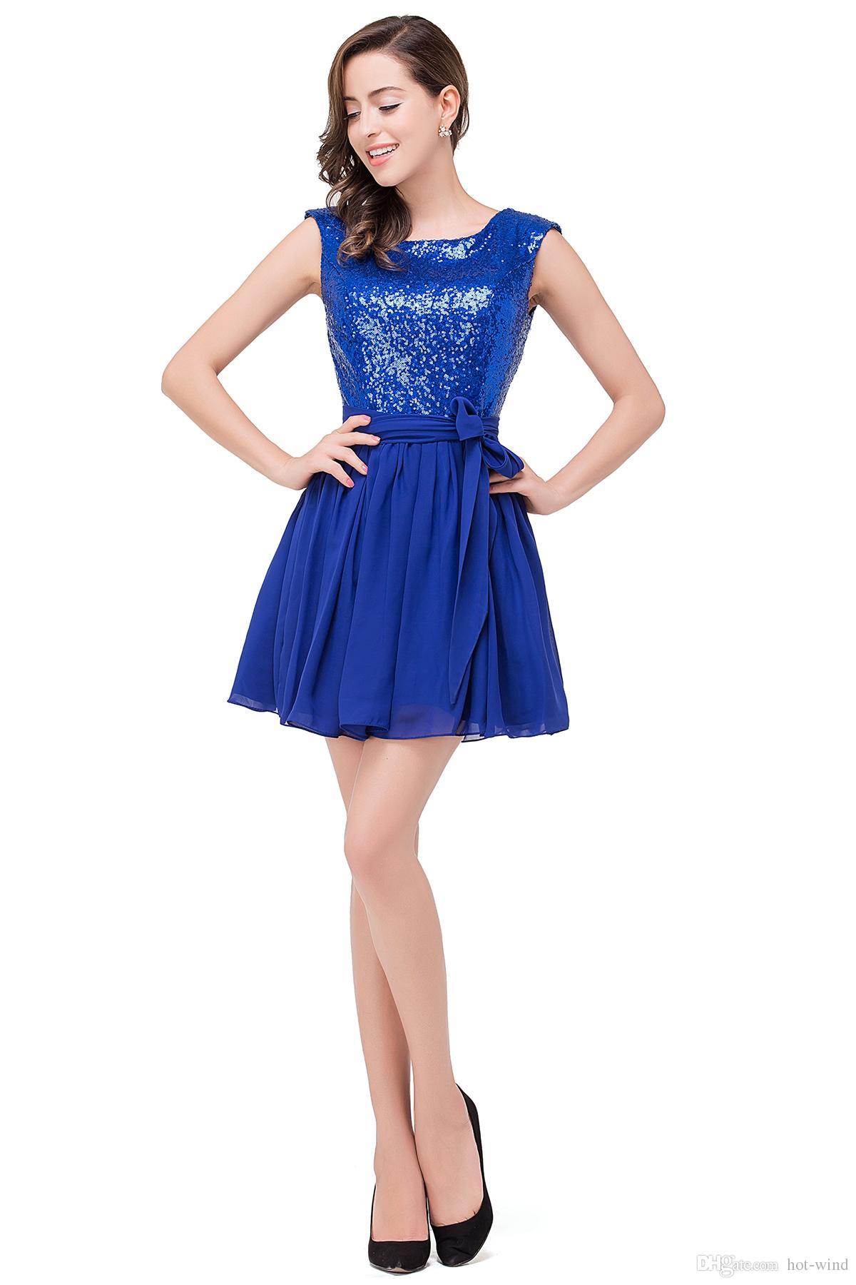 Cheap Under $50 Cheap Chiffon Homecoming Dresses 2016 Mini Short ...