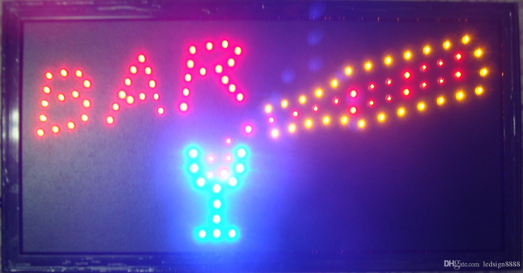 Direktverkauf Customed Niedrig Power 10x19-Zoll-Bar-Speicher-Halb-Outdoor-Ultra-helle LED-Zeichenbrett