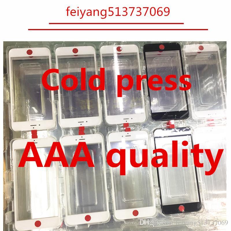20 pezzi originale Cold Press 100% frontale Touch Screen Panel Obiettivo esterno in vetro con cornice centrale cornice bezel per iPhone 7 6 6s 6 plus 6s plus