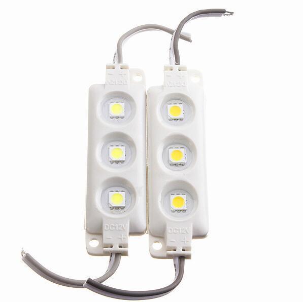 3 LEDs Super luminosité Blanc LED Module Lumière DC 12V Étanche IP65 Module d'injection 5050 SMD LED