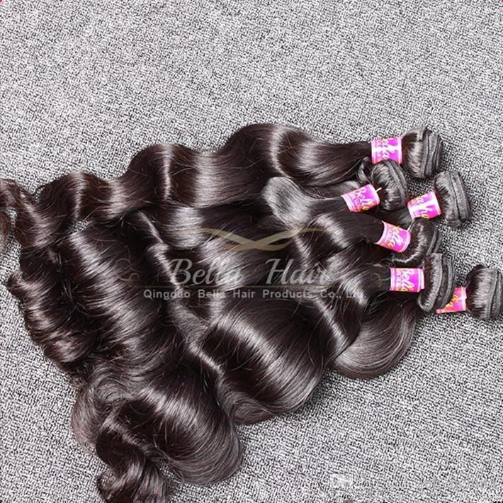 9A موضة الشعر 3pcs / lot 100 ٪ غير المجهزة الماليزية نسج الشعر اللون الطبيعي الشعر البشري شحن مجاني بيلا الشعر