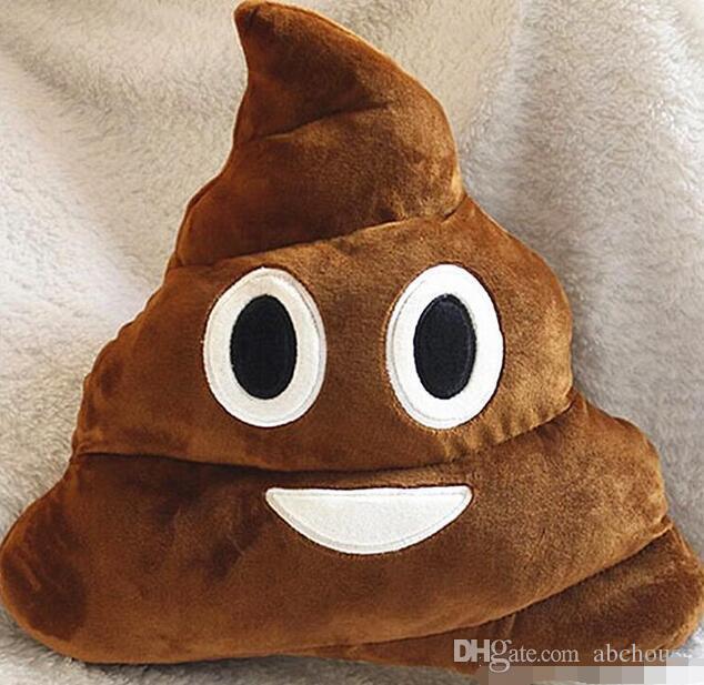Presente Ordem mínima 50 pcs almofada decorativa Emoji Pillow presente bonito Merdas Poop Bicho de Pelúcia Boneca engraçada do Natal Plush Bolster Pillows