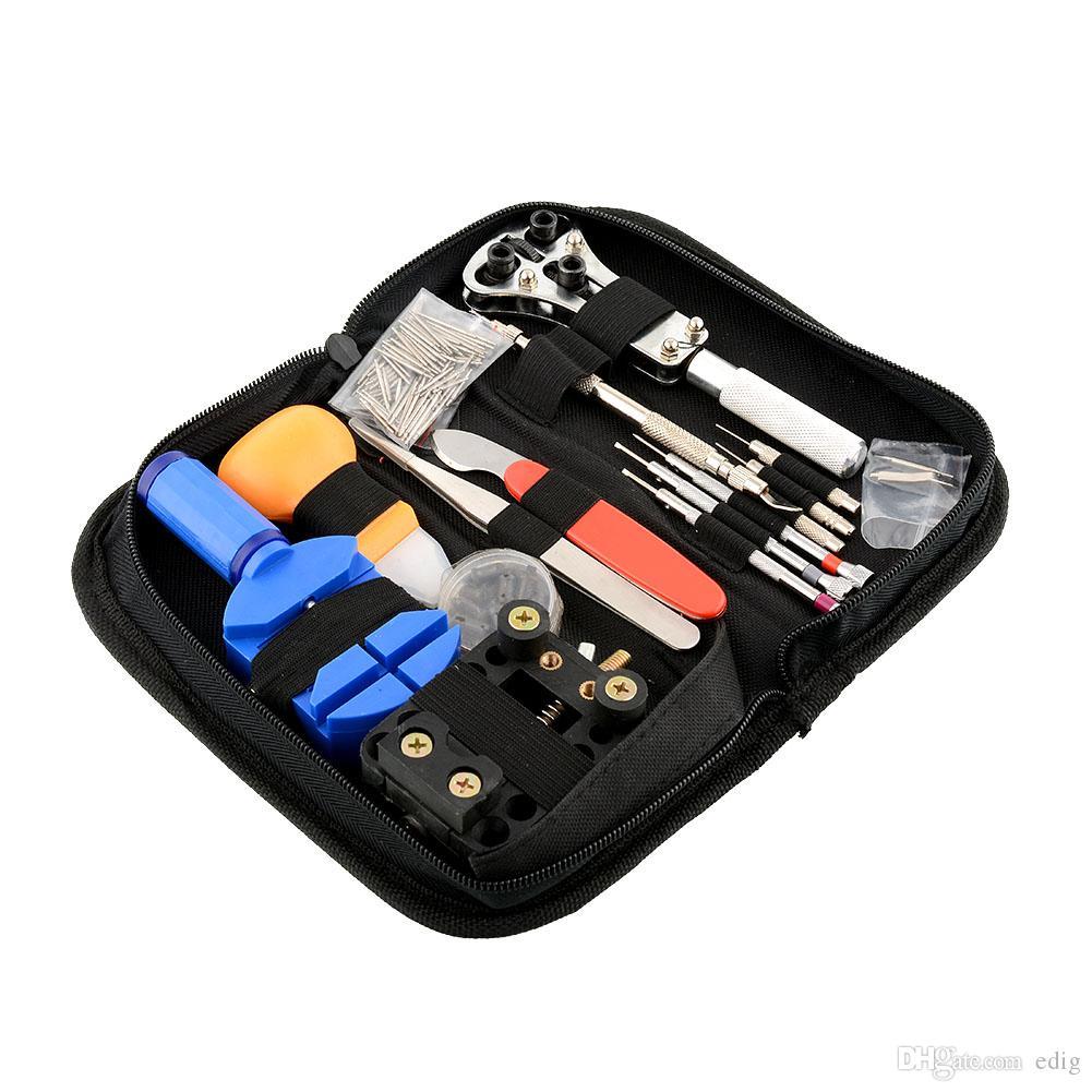 144pcs / lot / set orologiaio riparazione strumenti di riparazione kit caso rimozione apri bar set convenienza marca orologio strumento