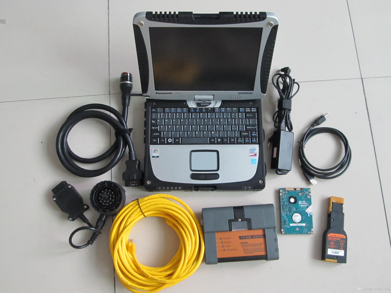 Scanner automatique professionnel pour BMW ICOM A2 + B + C 3 en 1 avec disque dur 500 Go et ordinateur portable CF-19