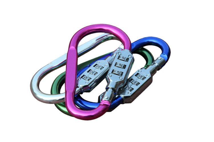 Grande fechadura gráfica / chaveiro de mosquetão de montanhismo Tipo D Bloqueio de cadeado tipo cadeado criativo atacado