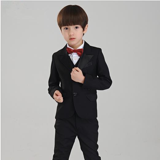 소년의 공식적인 정장 소년의 정장에 소년의 패션 드레스 소년의 결혼식 정장 턱시도 정장 (자켓 + 바지)