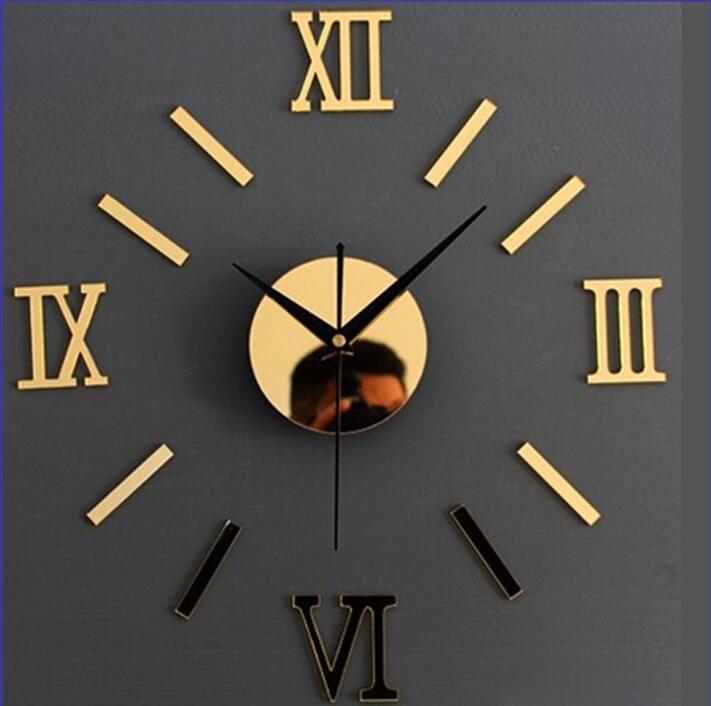 Grosshandel Romische Ziffer Uhr Uhren Moderne Wohnzimmer Stumm Kreative Diy Wandaufkleber Acryl Wanduhr Von Shinyyao 3 77 Auf De Dhgate Com Dhgate