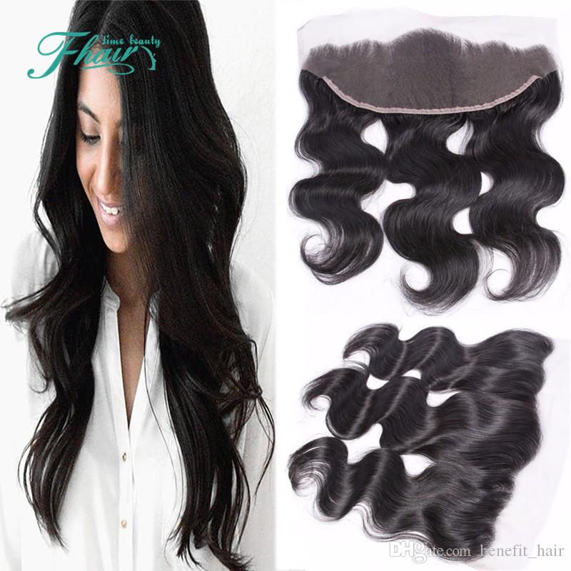 9A Cheap 13x4 Malaysian Body Wave Lace Frontal Bleached Knots Hair Full Lace Frontal Closure Free Middle 3Part Free Shipping DHL