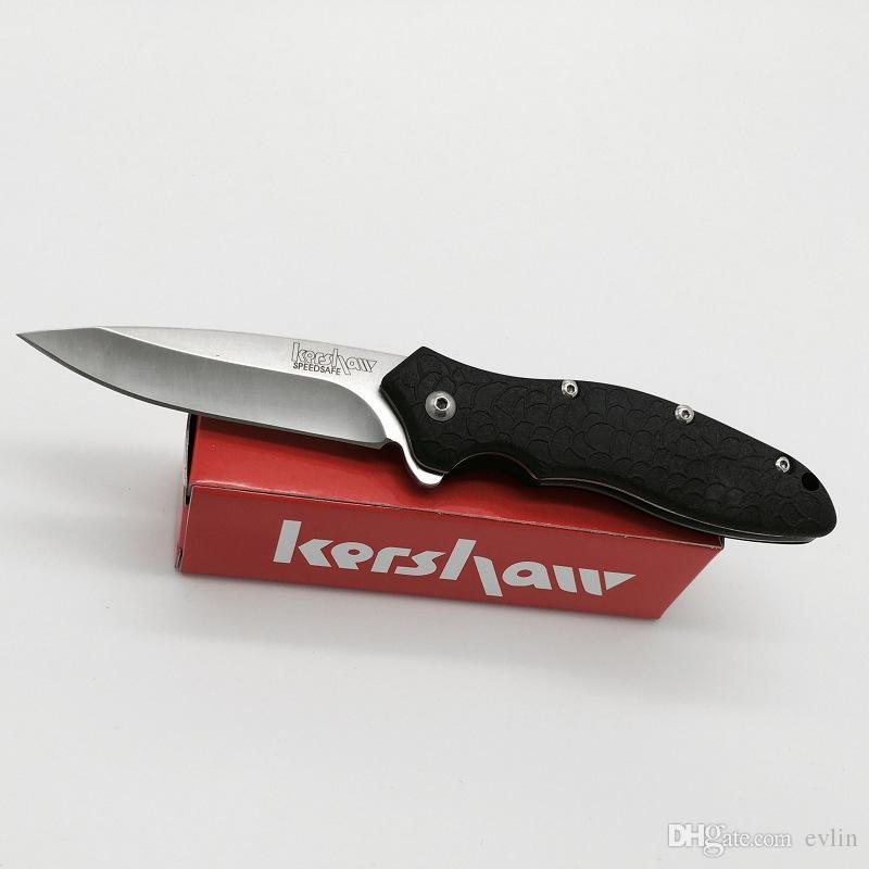 New Kershaw 1830 Tactical Flipper faca dobrável EDC bolso faca facas facas de bolso de sobrevivência com caixa de embalagem de papel Original
