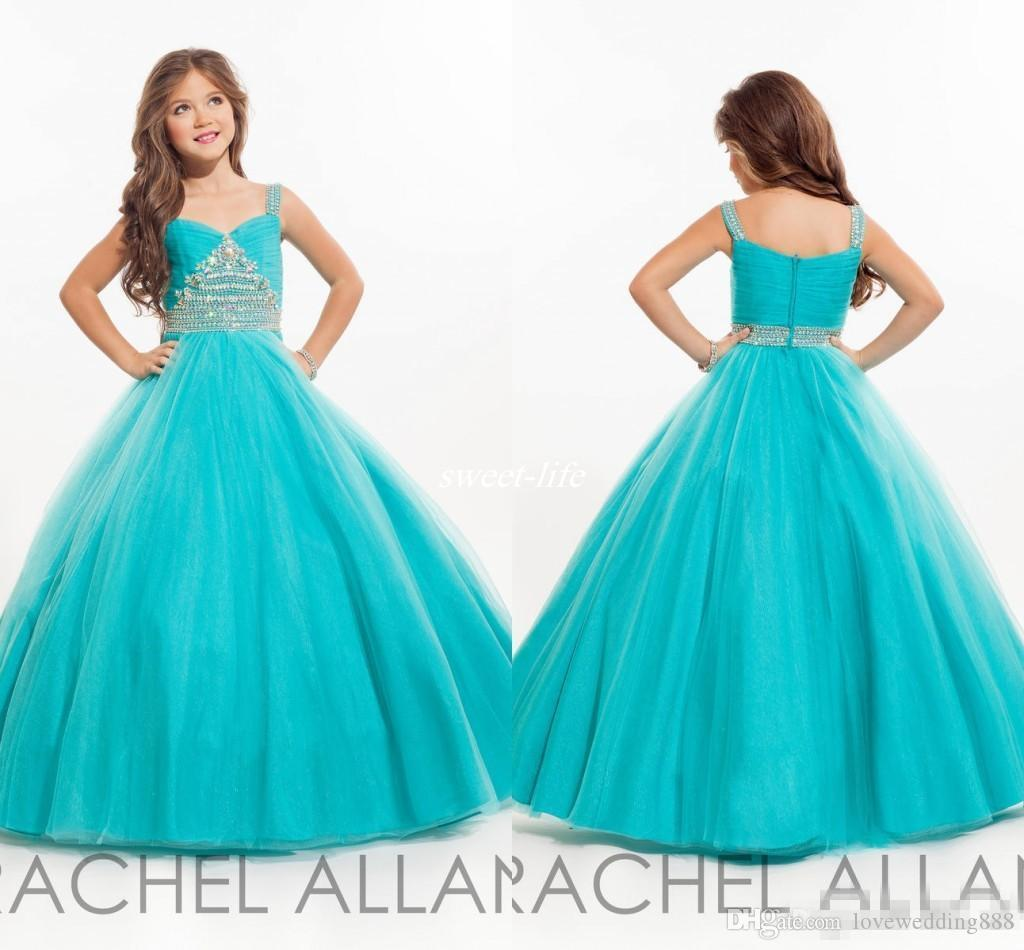 Cheap Long Girls Pageant Dresses For Teens Ball Gown Beaded ...