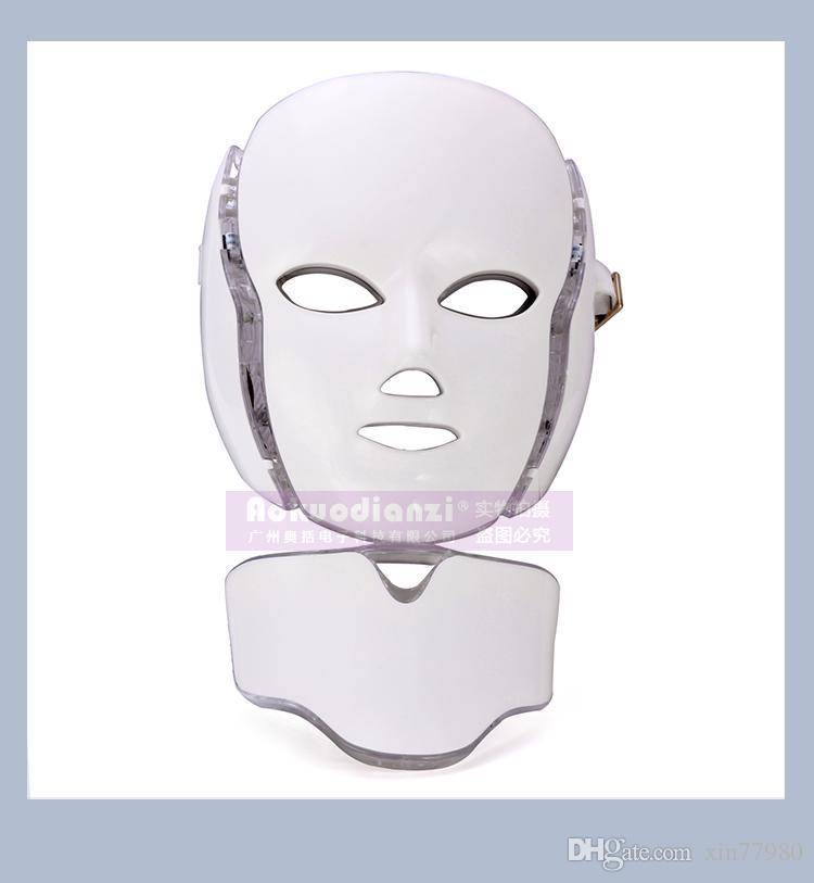 2017 neueste LED-Maske 7 Photon Farben mit Microcurrent für Hautverjüngung Anti-Aging führte Gesichtsmaske Heimgebrauch DHL-freies Verschiffen