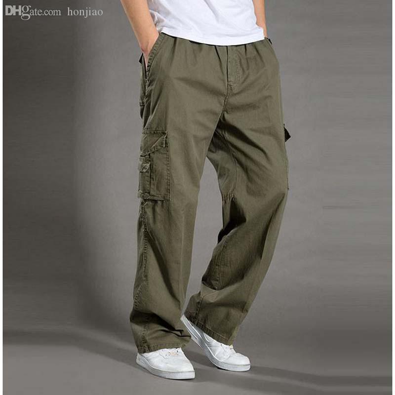 Wholesale-Men's Casual Pants Plus Size XXL XXXXL 6XL Overalls New Arrival Outdoor Tactical Army  Cargo Pants Man Sport Trousers