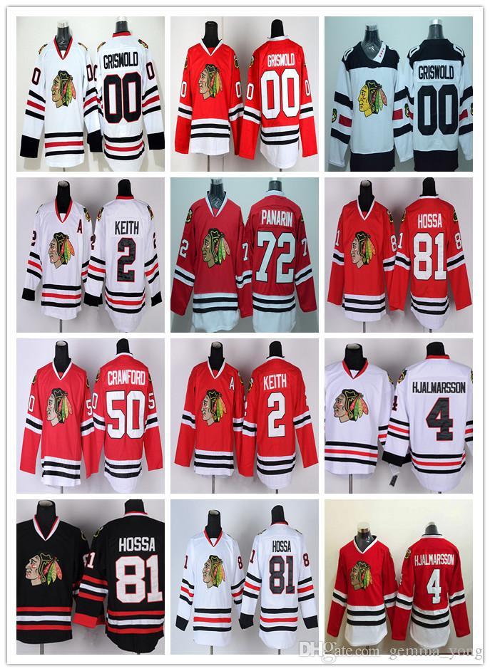 61f0c537f Discount 00 Clark Griswold 50 Corey Crawford 2 Duncan Keith 81 Marian Hossa Chicago  Blackhawks Hockey Jerseys Cheap Red Black White Green