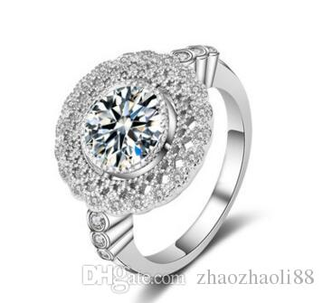 Lad Diamond Engagement Ring Round Brilliant Cut Certified 4.50 CT 18k White Gold Filled