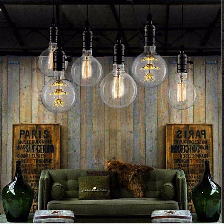 Vintage G80 LED Edison Filament Light Bulb E27 220V Ampolletas Led Light for Home Clear Glass incandescent Warm Yellow Bulb Lamp (3)